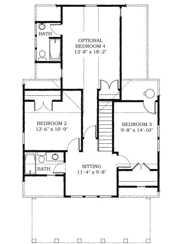 Second Floor of Plan ID: 38703