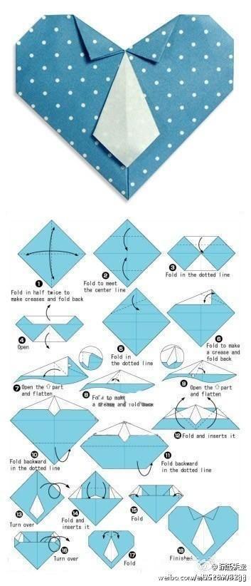 【心形衬衫领带】折纸(转)