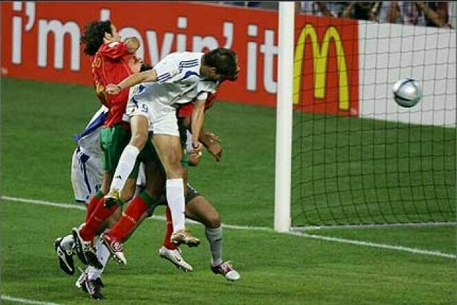 Aggelos Charisteas (Greek:Άγγελος Χαριστέας) with the header goal off the corner against Portugal in the 2004 European Soccer Championship Cup Finals