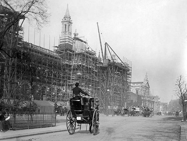 The Victoria and Albert Museum, London, under construction. The V is the world's largest museum of decorative arts and design http://LDN.in/7viF1W