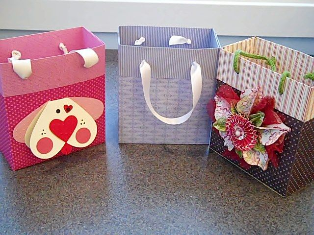 """Hi Everyone! Learn how to make your own medium size gift bag out of 2 sheets of 12"""" x 12"""" designer paper. Happy Crafting!~ Dee"""