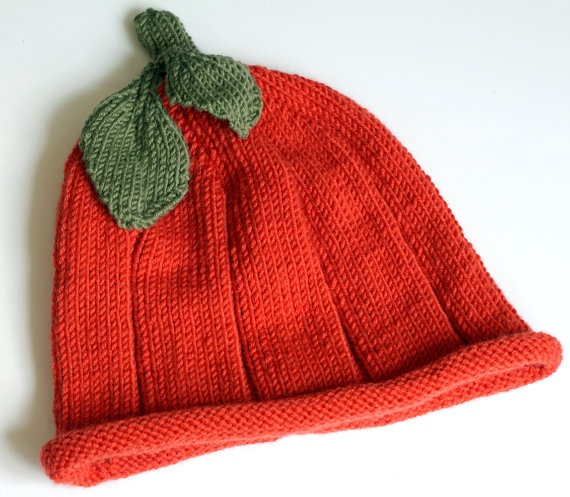 Hand knitted Baby Pumpkin Hat Size 39 months by BlueberryBarnKnits, £12.99