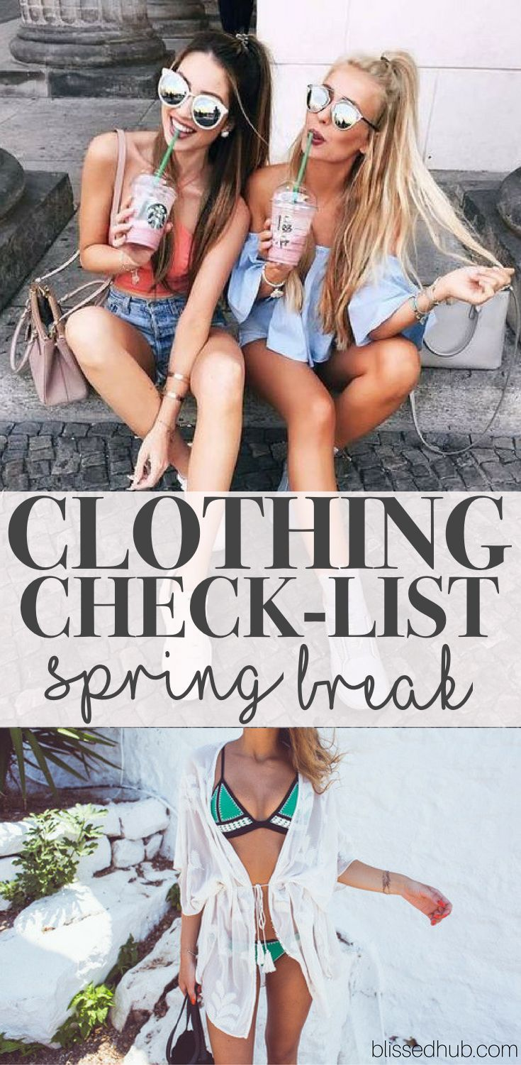 CLOTHING CHECKLIST SPRING BREAK - bikini, coverup, day outfit, night outfit, poncho, shoes, bag, cross body + more! - OH EM GEE these outfits are just TO DIE FOR, You will definitely turn heads with these clothing essentials!!