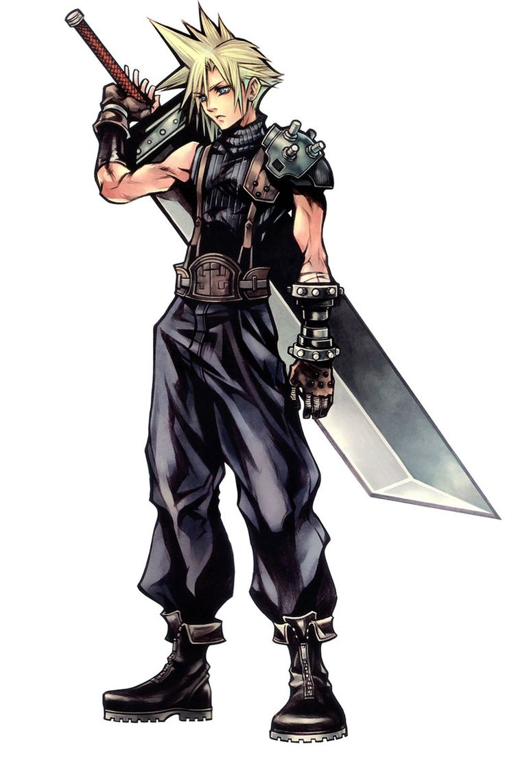 Final Fantasy Dissidia Game Character Official Artwork Render Cloud Strife. He is sooooo cool !