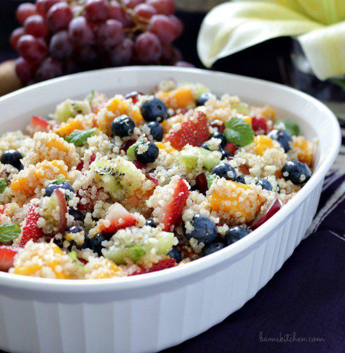 Quinoa Fruit Salad / http://bamskitchen.com