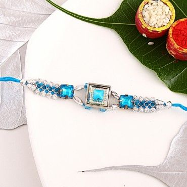 Gemsquare kundan rakhi rakhi online shopping