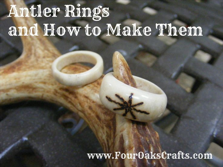 Antler ring tutorial. In 6 steps, learn how to make deer antler rings. Click on…