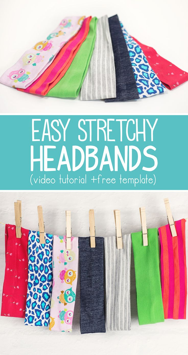 How to make a Stretchy Headband (+ video tutorial and free template)