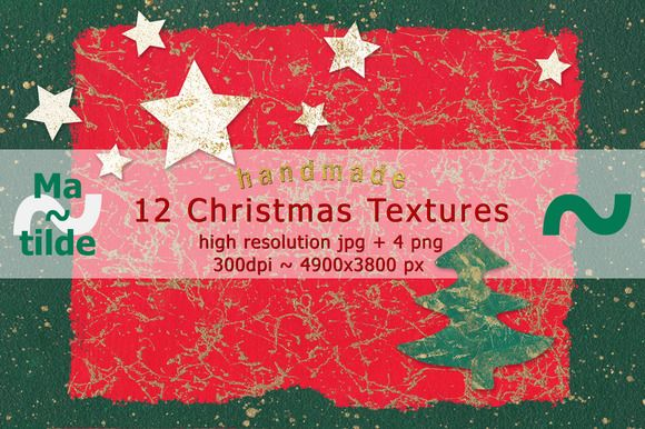 Christmas Textures by Matilde on @creativemarket