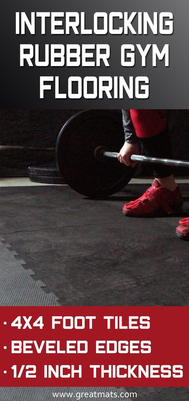 Rubberlock 1 2 Inch Black 4x4 Ft In 2020 Gym Flooring Gym Flooring Rubber Home Gym Flooring