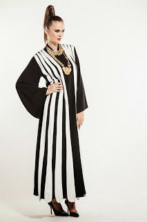 Stripes abaya/cape by NAFS