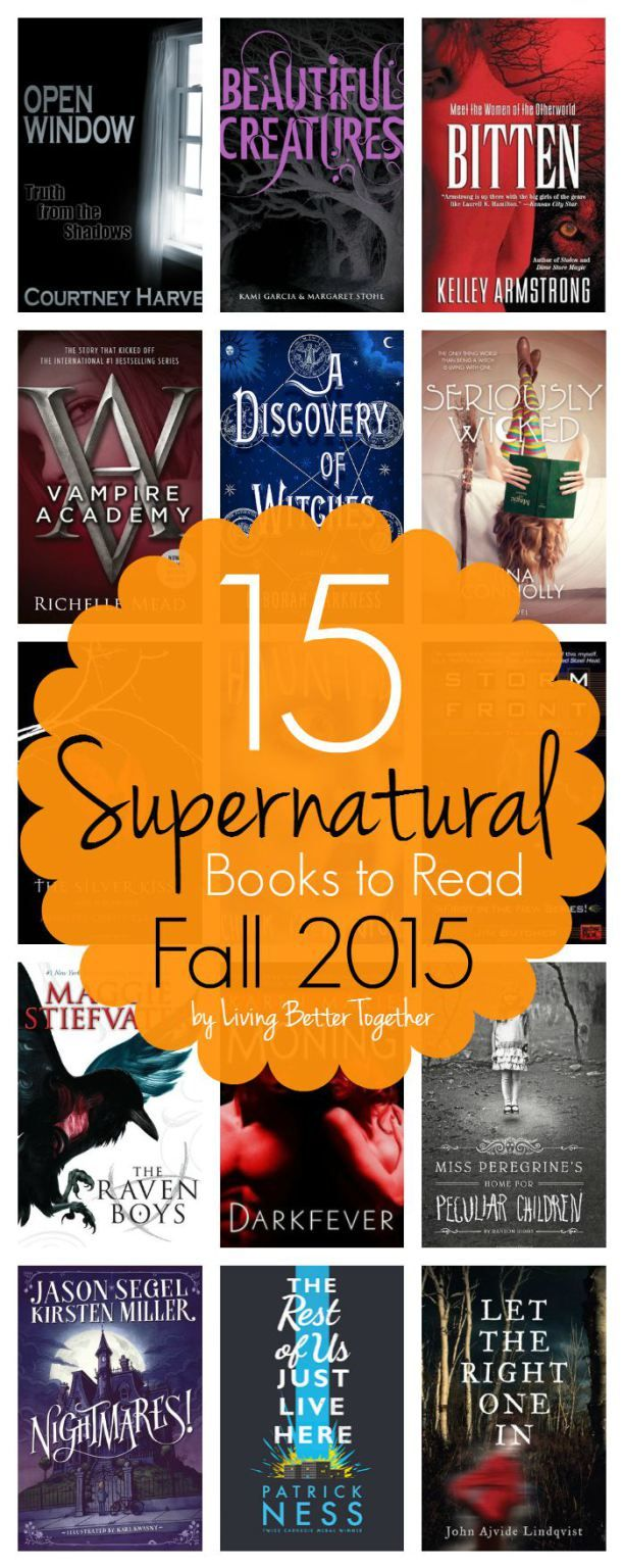 15 Supernatural Books to ReadCarrie (Frugal Foodie Mama)