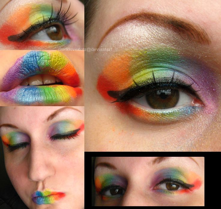 The Costume Cafe: DIY Rainbow Costume From Head to Toe...