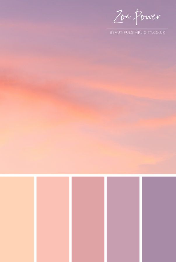 Dreamy Sunset Skies In Pretty Pastel Shades Inspired This Summer