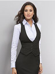 i love wearing a vest to the office! i have a gray one, now i need black!