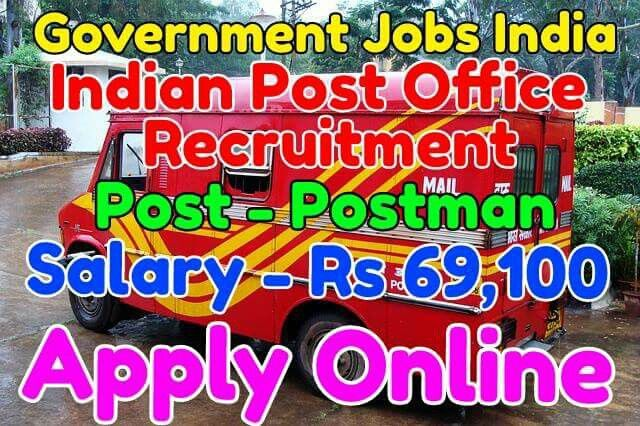 Indian Post Office Recruitment Notification 2017 Name of post - Postman Salary - Rs 21,700 - 69,100 Total vacancies - 594 Last Date - 14-02-2017 Apply from given link in bio http://jobsgovind.blogspot.in