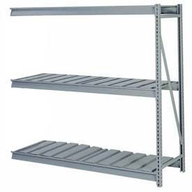 """Bulk Storage Rack Add-On, 3 Tier, Ribbed Decking, 96""""Wx48""""Dx84""""H Putty by LYON WORKSPACE PRODUCTS. $575.00. Bulk Storage Rack Add-On, 3 Tier, Ribbed Decking, 96""""Wx48""""Dx84""""H Putty Heavy gauge steel uprights and beams. Adjustable on 1-1/2"""" centers. 1650-3300 lbs. capacity per pair of beams. Weight Capacity based on evenly distributed load. 10,000 lbs. per upright assembly."""