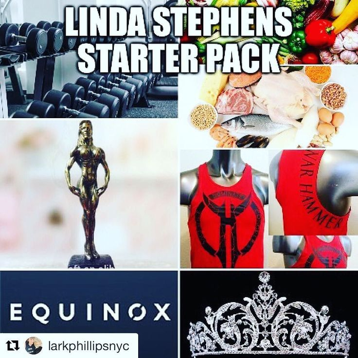 """#Repost @larkphillipsnyc (@get_repost)  Linda Stephens constantly puts out winners in bodybuilding and pageantry. If she had a reality show it'd be called """"Trophies & Tiaras"""". She slays articles in nutrition for @muscleandfitnesshers and other various fitness outlets. @lindastephensifbbpro maybe this is as funny as my old Oprah memes I made for you? #warhammer #equinox #tiaras #trophies #veggies #protein #muscleandfitnesshersmagazine #starterpack #starterpacks #bodybuilding #ifbb #ifbbpro…"""