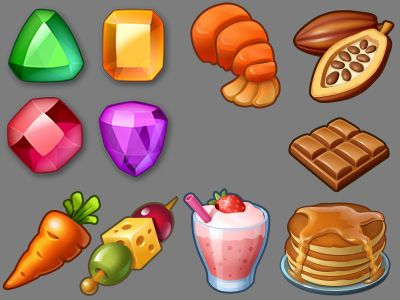 Gems Food Icons