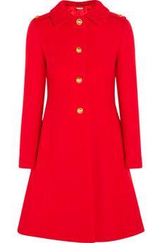 Miu Miu Pleated wool-felt coat   NET-A-PORTER