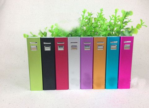 Power Bank : Metal Lipstick External Backup Battery Charger Portable Power Bank For Iphone 5 5S 4 4S For Samsung For mp3