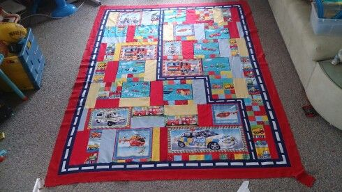 Quilt top for grandson for Christmas. Just got to do the quilting