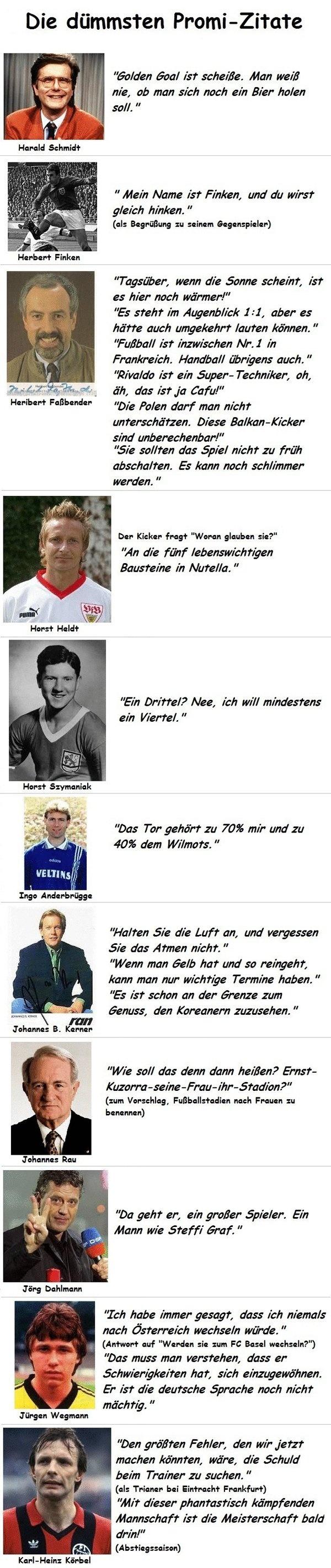 Die dümmsten Promi-Zitate (Fußball Teil 2) - Fail Bild | Webfail - Fail Bilder und Fail Videos