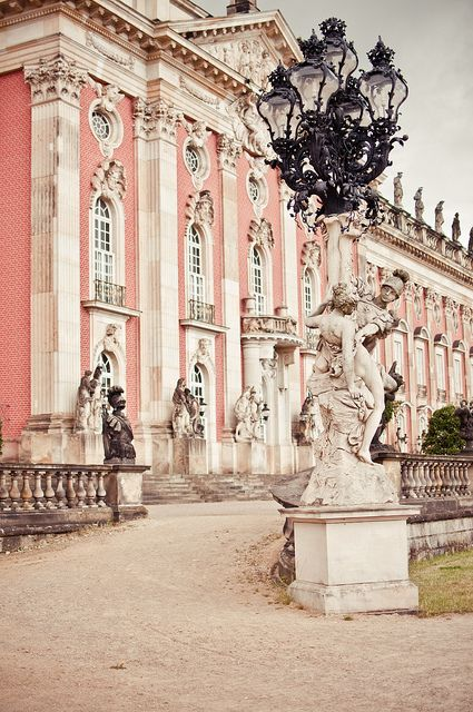 New Palace, Potsdam, Germany. Got to tour this Castle when I was in Germany last summer. Oh how I long to go back!