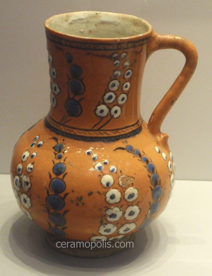 Iznik Jug – Saz Leaf in Vibrant Orange color  Iznik 16th – Pergamon Museum (Islamic Art) Berlin