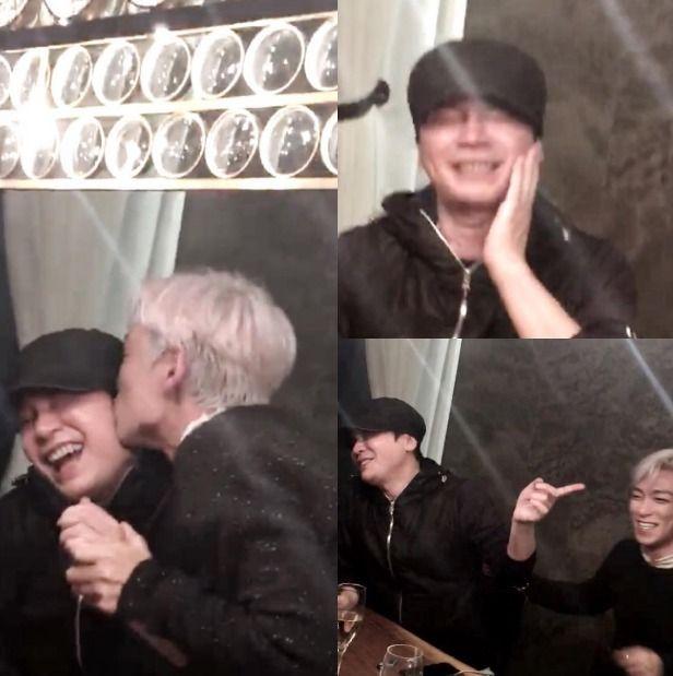 Why is BIGBANG's T.O.P Giving Yang Hyun Suk a Kiss?   Koogle TV
