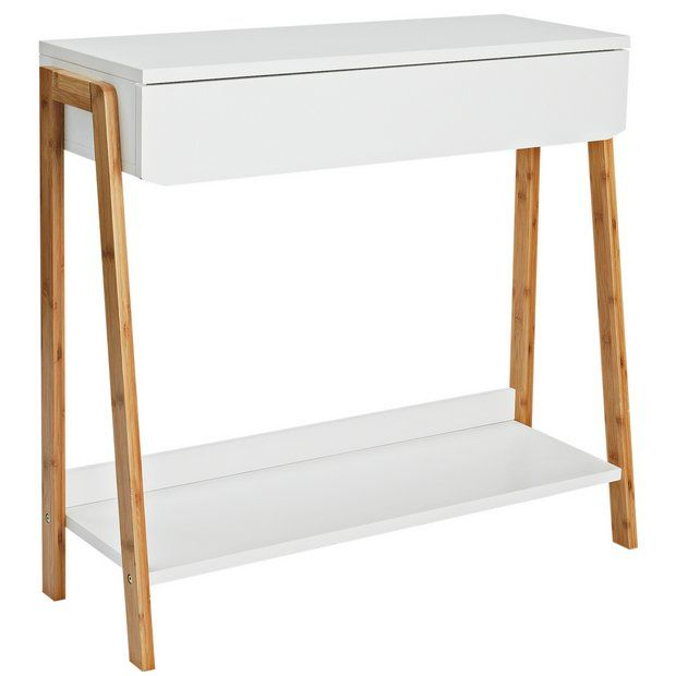 Buy Collection Belvoir Console Table Bamboo And White At Argos Co Uk Visit Argos Co Uk To Shop Online For H White Console Table Hallway Furniture Argos Home