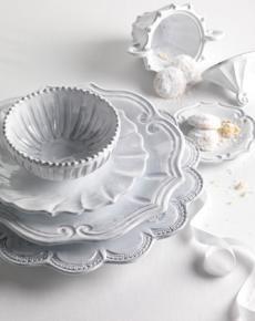 Incanto White Dinnerware, this is my favorite Vietri Pattern......So beautiful and simple.