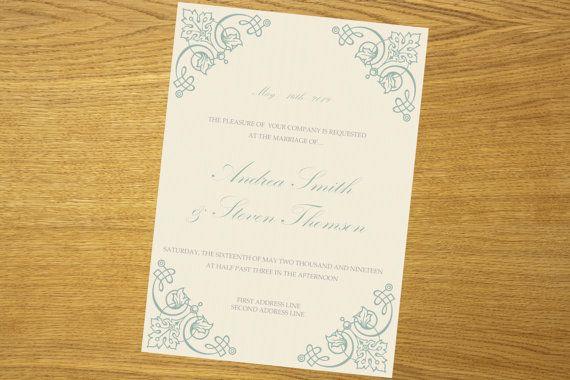 Wedding invitation template download by WeddingTemplatesHub