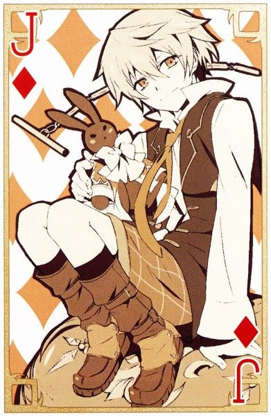 GUYS I just realized something! Well you know how Pandora Hearts is all about Alice in Wonderland and so it has playing cards in the art (like the playing card knights or whatever they're called) And how there is a card called the Jack. THE JACK. LIKE JACK VESSALIUS...!!!