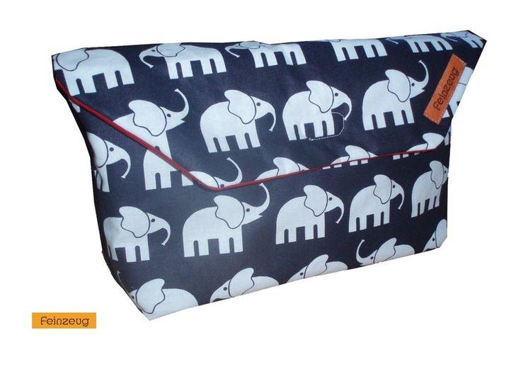 """Windeltaschen - Windeltasche """"Elefanten"""" - groß - ein Designerstück von Feinzeug bei DaWanda"""