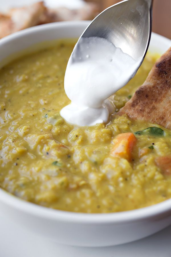 Curried Lentil Soup with a touch of Coconut Cream