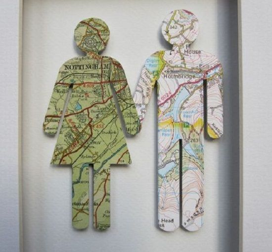 Identify with your birthplace?  Make a hometown map cutout of yourself and others.  folksy.com