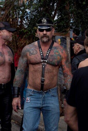 Hairy Muscle Sir Beards Going Gray Men Leatherman