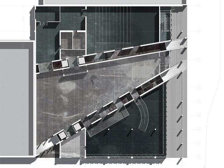 ground floor plan | Embassy for Israel & Palestine | Sarah Kia