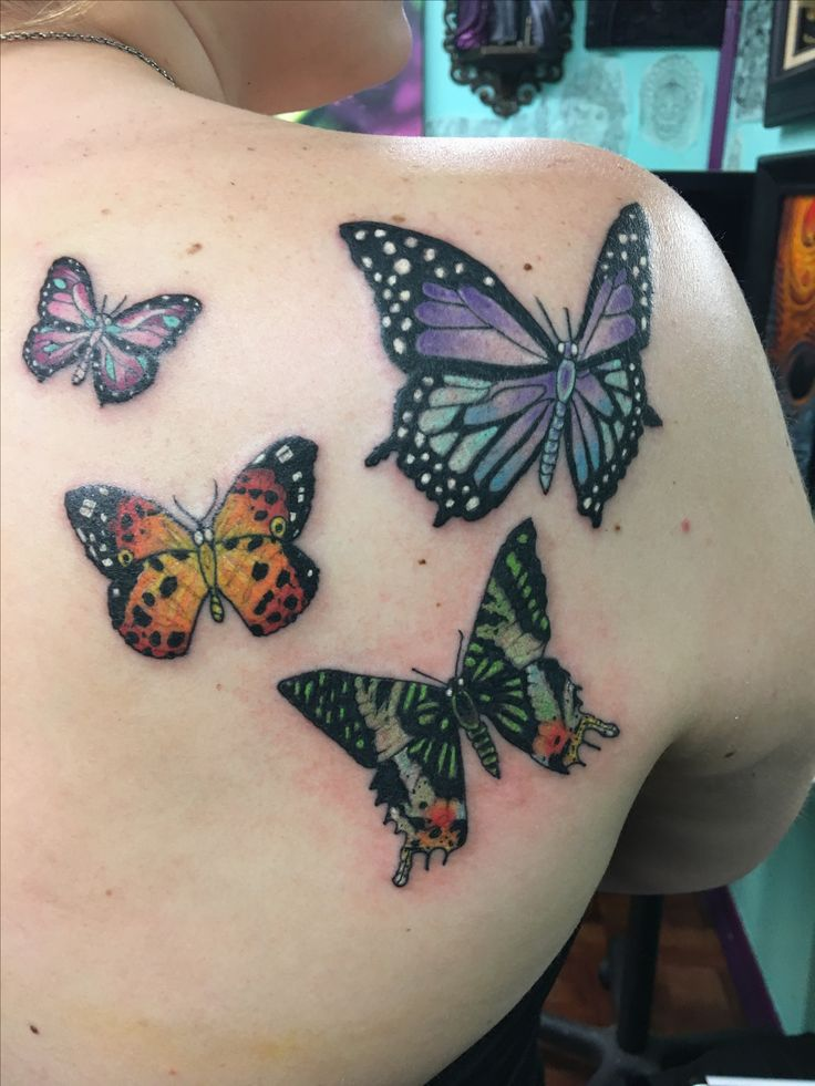 My color butterfly piece !! 🦋 Couldn't before happy with it!!  #color #butterfly #butterflies #colorbutterflies #realistic #tattoo #butterflytattoo #colortattoo