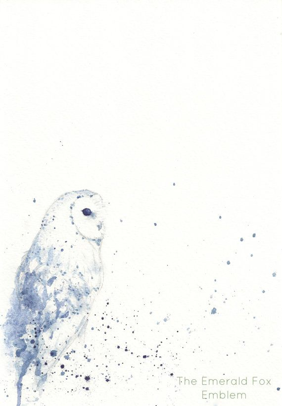 Barn Owl Art: Part of our Patronus Series by TheEmeraldFoxEmblem