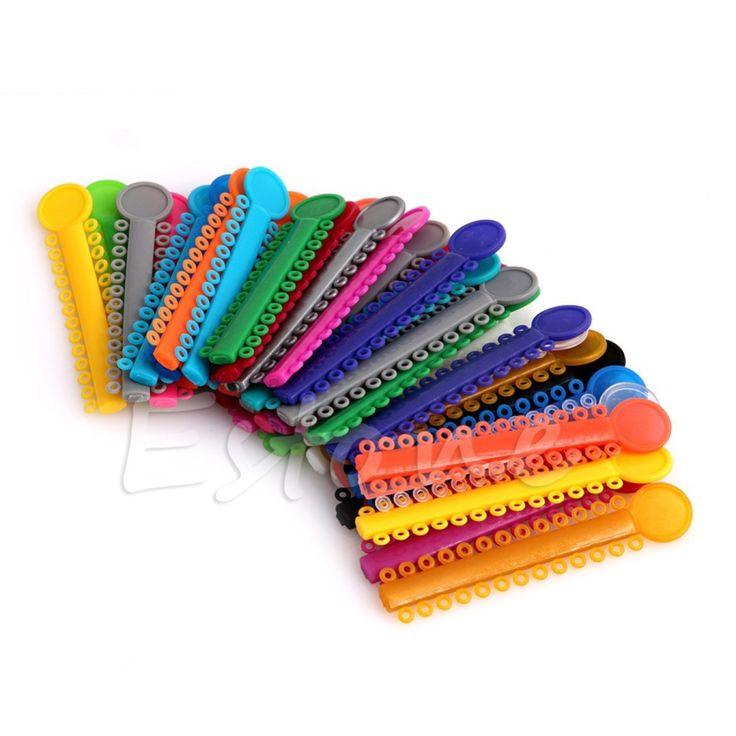 40 Palos Multi Color Gomas Elásticas Lazos de Ligadura de Ortodoncia Dental