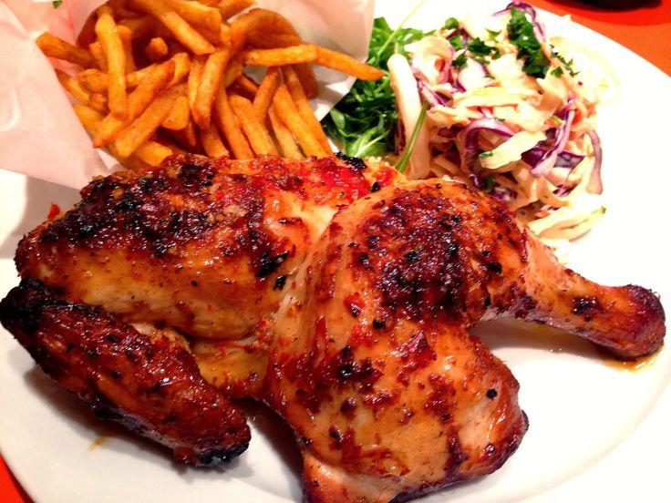 Little Orange Kitchen: Peri Peri Spatchcock Chicken, Chunky Coleslaw ...