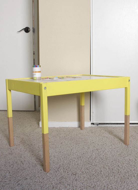 Ikea Hack: Latt Dipped Childrenu0027s Table
