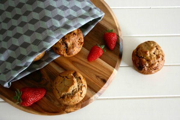 Strawberry + Banana Muffins (gluten + dairy free) by mamacino
