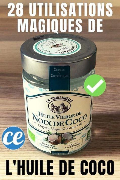 28 Utilisations Magiques De l'HUILE DE COCO Que Personne Ne Connaît.