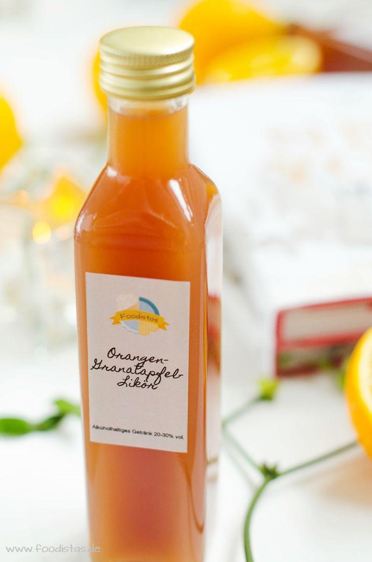 Orangen-Granatapfel-Likör, Likör Rezept, Weihnachtlicher Likör, Weihanchten, Likör, Rezept Likör, Verlosung, Gewinnspiel