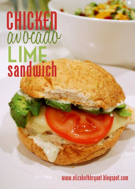 lizzy writes: chicken avocado lime sandwich