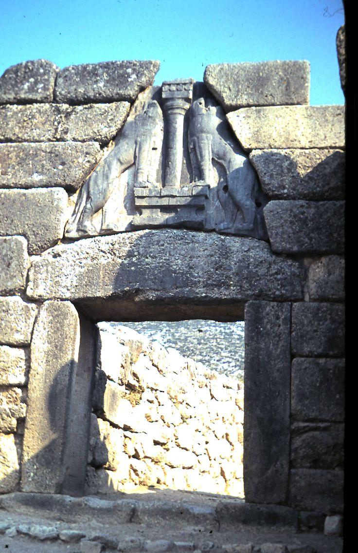 The Lion Gate at Mycenae.