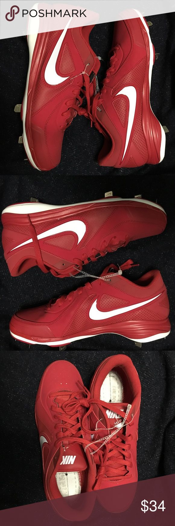 Nike Pro MVP Metal Baseball Cleats Size 12.5 These look brand new.  Please see pictures for details.  A great pair of red Nike MVP Pro metal baseball cleats.  Perfect for you or as a gift. Nike Shoes Athletic Shoes